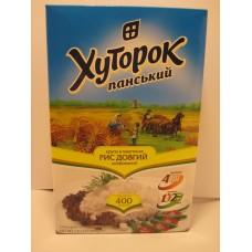 Крупа рис Хуторок длиннозернистый в пакетиках 4*100г