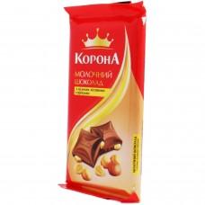 "Шоколад  ""Корона"" цельный орех молоч., 90 г"