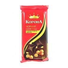 """Шоколад  """"Корона"""" цельный орех черн., 90 г"""