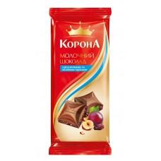 "Шоколад  ""Корона"" орех/изюм молоч., 90 г"