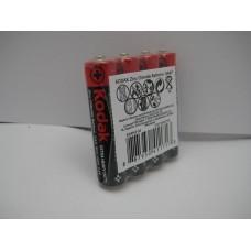 Батарейки R3 минипальч Kodak, 4 шт/упак