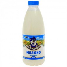 Молоко Простоквашино 2,5% бут. 0,950кг (договір)
