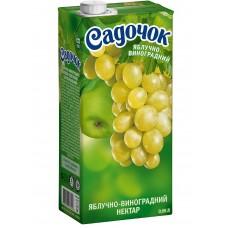 Сок Садочек Виногр-Яблоко 1л