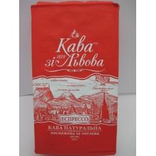 Кофе из Львова Эспрессо молотый брикет КРАСНАЯ 225гр