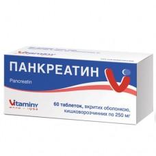Панкреатин таблетки 0.25г №20