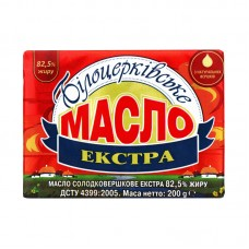 Масло вершкове Білоцерк. 82% 200 г